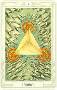 Tre i pentagram i tarot, three of pentacles
