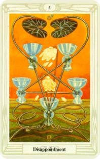 Fem bägare i tarot, five of cups
