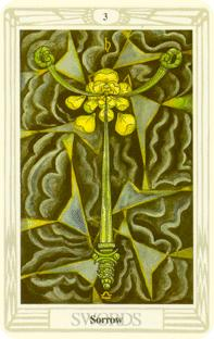 Tre svärd i tarot, three of swords