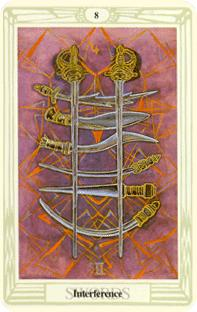 Åtta svärd i tarot, eight of swords